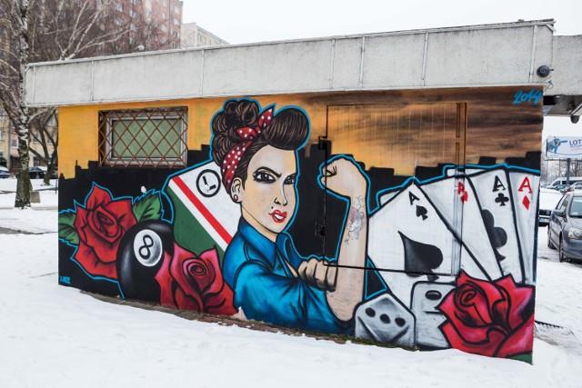 Graffiti stworzone przez kibiców Legii na Bemowie.