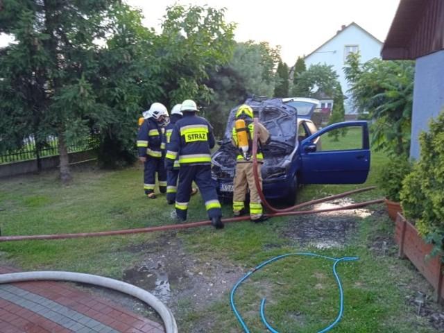 Pożar gasili strażacy ze Szczucina i Dąbrowy Tarnowskiej