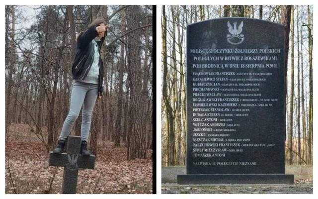 12-latka skakała po grobach żołnierzy w Brodnicy i chwaliła się tym na Facebooku