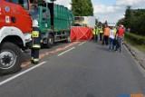 Wypadek w Kaczkowie: Nie żyje pracownik leszczyńskiego MZO [ZDJĘCIA]