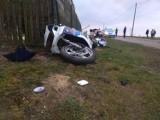 Zderzenie motocyklisty z ciągnikiem [ZDJĘCIA]
