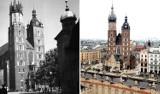 Kraków czarno-biały i kolorowy. Porównujemy archiwalne zdjęcia z aktualnymi. Poznajecie te miejsca? Kraków DAWNIEJ I DZIŚ