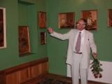 Intarsje nieżyjącego Edmunda Kapłońskiego ze Żnina na wystawie w Muzeum Kultury Ludowej w Osieku nad Notecią