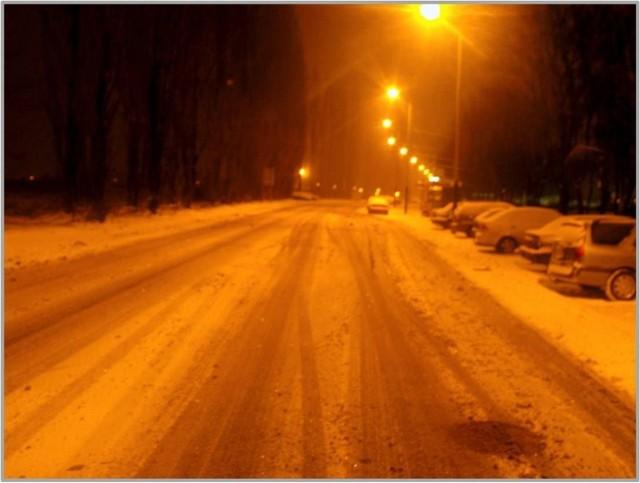 Ulica Kusocińskiego o godzinie 6. Fot. Mariusz Reczulski