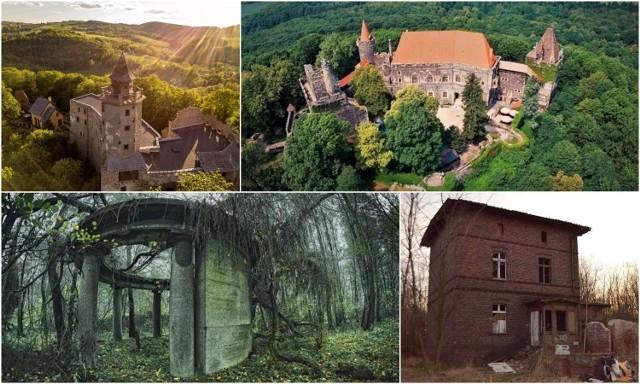 Dolny Śląsk obfituje w zamki, pałace, opuszczone kościoły, domy nawiedzane przez duchy, upiory, a nawet samego diabła.  Wiążą się z nimi mrożące krew w żyłach legendy lub opowieści okolicznych mieszkańców.  Na kolejnych stronach pokazujemy miejsca w naszym regionie, wprost wymarzone jako cel wycieczek dla osób lubiących historie z dreszczykiem lub opowieści o zjawiskach paranormalnych.