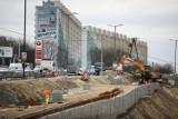 Kraków. Postępują prace na budowie linii tramwajowej do Górki Narodowej [ZDJĘCIA]