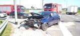 Stary Sącz wypadek. Zderzenie dwóch aut na obwodnicy miasta. Dwójka dzieci przewieziona do szpitala [ZDJĘCIA]