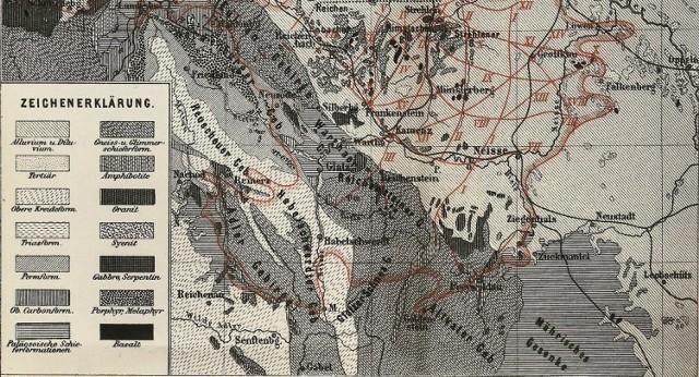 Jedno z pierwszych odwzorowań kartograficznych trzęsień ziemi na Dolnym Śląsku, które w 1883 r. wykonał E. Dathe