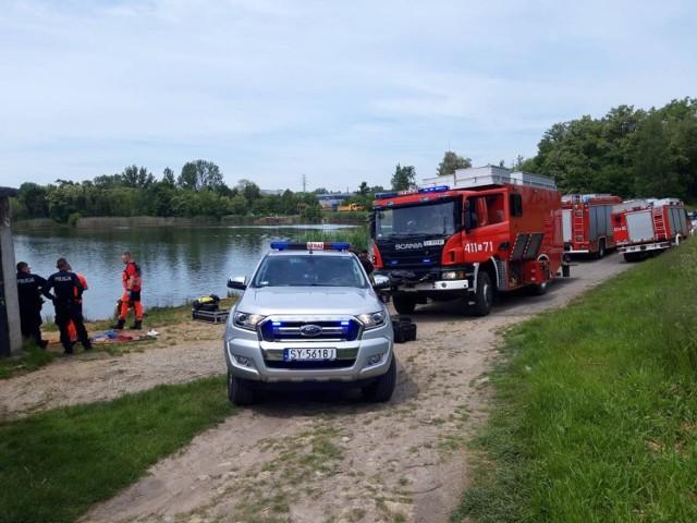 Mężczyzna utonął w stawie w Bytomiu przy ul. Kędzierzyńskiej