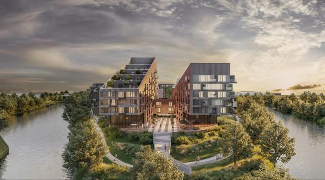 1400 mieszkań na terenie po dawnej elektrociepłowni to tylko część projektu.  Kolejny slajd-->