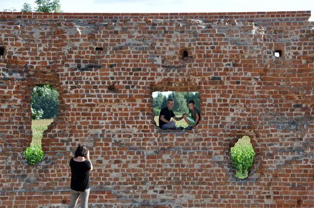 Ruiny zamku rycerskiego w  Szubinie dostępne dla zwiedzających