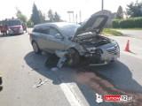 Wypadek w Lisiej Górze. Na drodze wojewódzkiej nr 984 pod Tarnowem zderzyły się dwa samochody osobowe