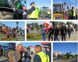 """W Brodnicy trwa protest rolników. """"Rząd polski działa przeciw polskim rolnikom."""" Zablokowano drogę krajową nr 15. Zobaczcie zdjęcia i wideo"""