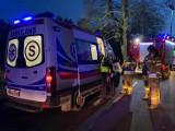 Rybki (gm. Nowa Wieś L.). Wypadek z udziałem czterech samochodów. Jedna osoba w szpitalu