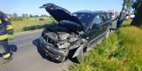 Wypadek na drodze Gruta - Mełno. Jedna osoba trafiła do szpitala [zdjęcia]