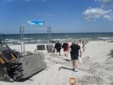 Ustka wymienia stare zejście na plażę. Niepełnosprawni dotrą do samego brzegu