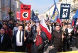 ''Stop segregacji sanitarnej''. Przez Warszawę przeszedł marsz antyszczepionkowców. Domagali się m.in. całkowitego zniesienia obostrzeń