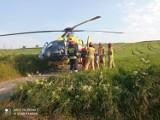 Wypadek w Sławniowie (pow. zawierciański). Samochód potrącił ośmioletnie dziecko. Na miejscu lądował śmigłowiec LPR