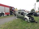 Poważny wypadek pod Gorzowem. W Jeninie zderzyły się dwa samochody osobowe