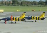 Odrzutowce z grupy Baltic Bees na lotnisku w Łodzi