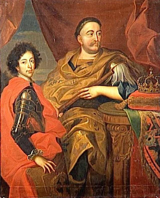 Królewicz Jakub i król Jan III Sobieski (zdjęcie ze zbiorów pałacu w Wersalu).