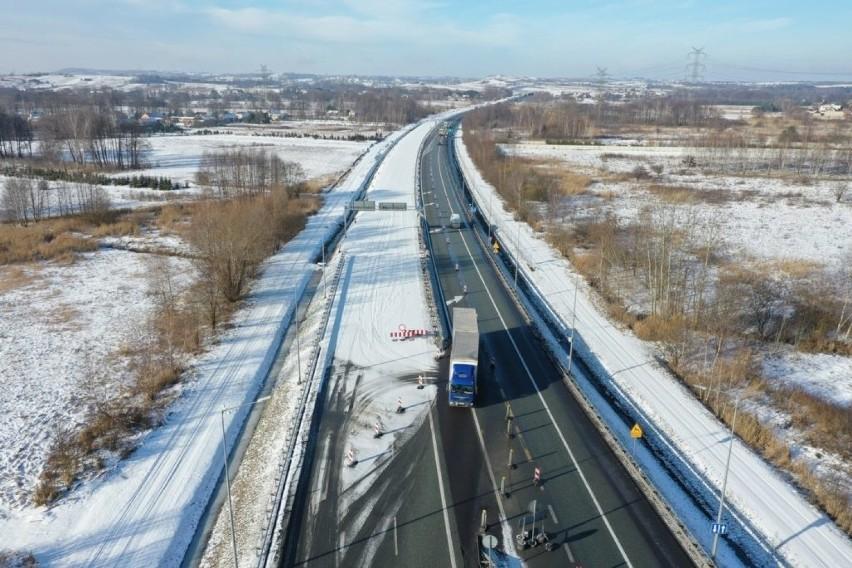 Budowa drugiej jezdni na drodze ekspresowej S1 od Podwarpia...