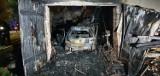 Nocny pożar domu w Witoldowie pod Koronowem. Dom całkowicie spłonął [zdjęcia]