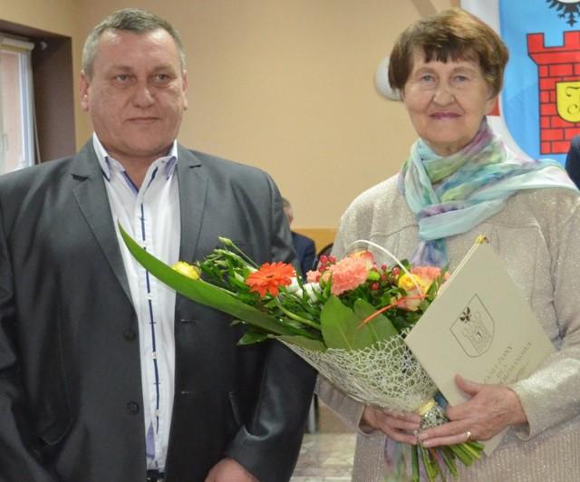 Maria Kubas, siostra Michaliny Hankiewicz oraz jej wnuk Andrzej Tłuczek