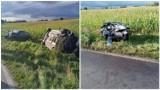 Dramatyczny wypadek w Ostrowitem koło Rypina. Czołowe zderzenie dwóch aut