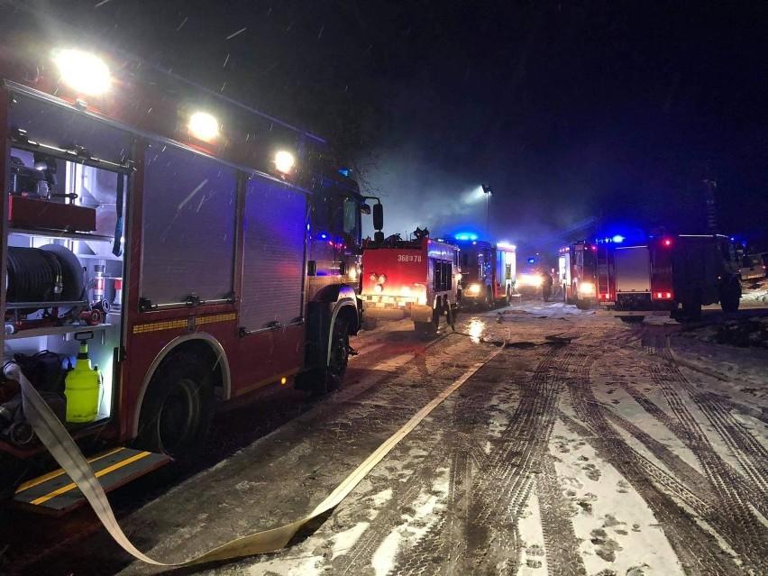 Pożar w Gostchorzu wybuchł w nocy z poniedziałku na wtorek...