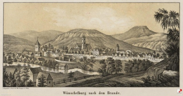 Radków:  Pierwsze ślady pobytu człowieka na tym terenie pochodzą z okresuneolitu.  Osada rozwinęła się z podgrodzia warownego zamku (istniejącego w XIII w.) przy starym trakcie z Kłodzka do Broumova. Radków wzmiankowany był już w 1290 jako Wünschelburg, aprawa miejskieuzyskał około 1320.