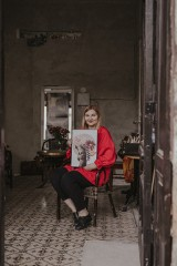 Wyjątkowe kolaże szczecińskiej artystki. Werka tworzy i pomaga poczatkującym artystom