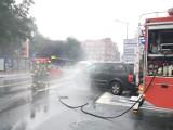 Katowice: Pożar samochodu na ul. Mikołowskiej. Sytuacja wyglądała bardzo groźnie