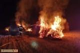 Podpalacz grasuje pod Wołczynem. Jednej nocy spowodował aż trzy pożary! [zdjęcia]