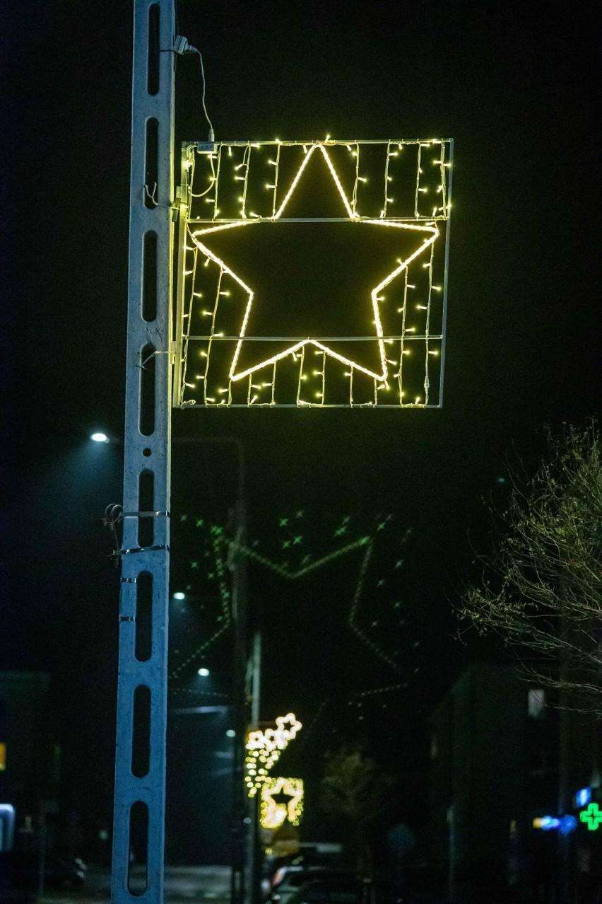 Świąteczne iluminacje w Mońkach