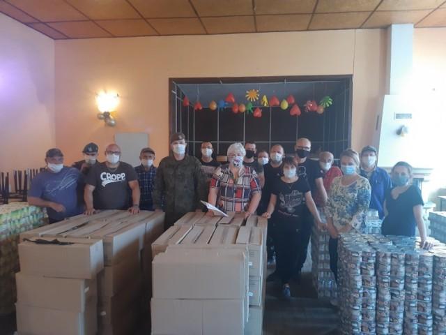 8,5 tony żywności trafiło do potrzebujących mieszkańców gminy Maszewo.