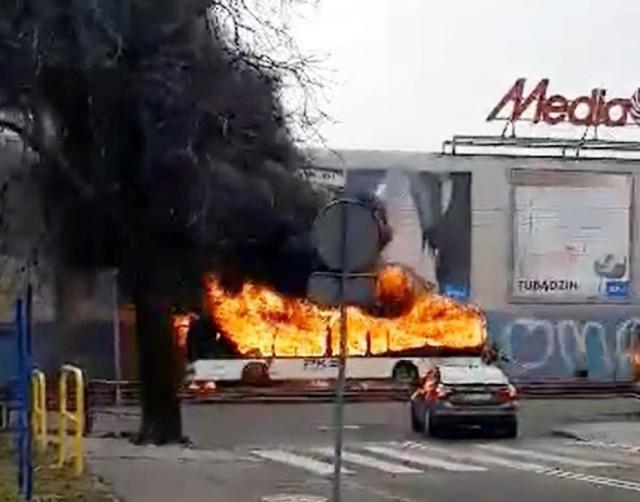 W Bydgoszczy doszło do pożaru autobusu PKS