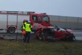 Śmiertelny wypadek na autostradzie A1 w Bocieniu koło Torunia [aktl., zdjęcia]