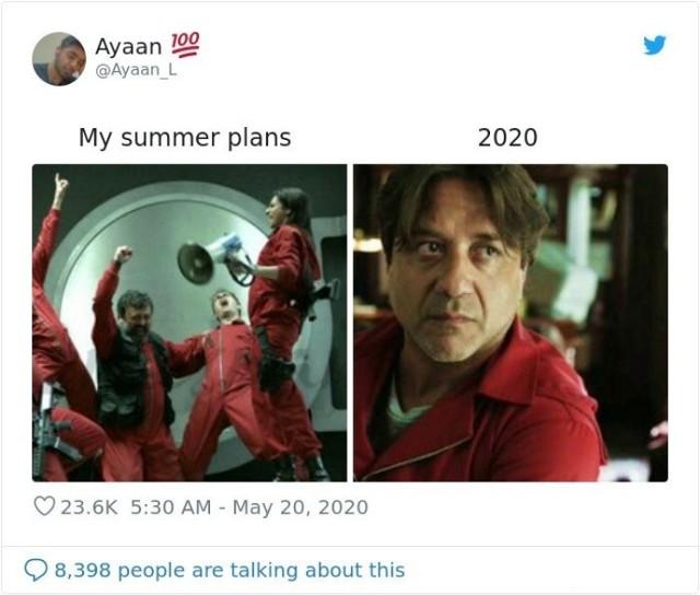 Każdy miał jakieś plany na 2020 rok. Memy gorzko, ale celnie je podsumowują. W końcu teraz większość z nas wolałaby, żeby ten rok po prostu się nie wydarzył. Konflikty międzynarodowe oraz pandemia koronawirusa zmieniły życie na całym świecie. Dlatego teraz cały świat ironicznie śmieje się z tego, jak wygląda starcie: plany na 2020 rok vs. rzeczywistość. Wiadomo, kto w nim przegrywa ;) Zobaczcie sami!