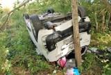Wypadek pod Bytowem. Zderzenie trzech aut. Poszkodowana dwójka dzieci (ZDJĘCIA)