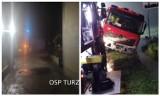 86 interwencji straży pożarnej po oberwaniu chmury w powiecie wodzisławskim. Zalane piwnice, garaże. W Gorzyczkach auto utknęło w wodzie