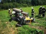 Groźne wypadki pod Tarnowem. Ciągnik przygniótł 69-latka w Rzepienniku Marciszewskim, a w gminie Zakliczyn kombajn zranił 44-latka [ZDJĘCIA]