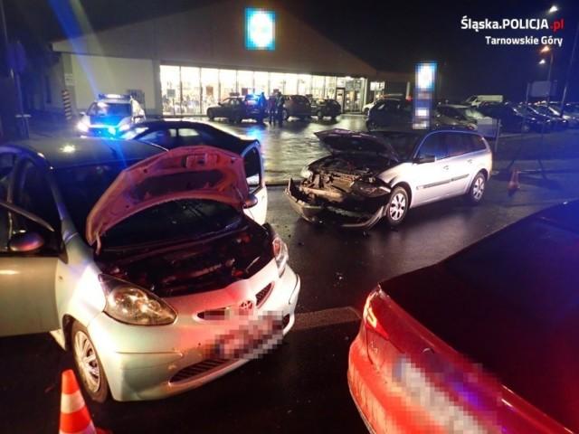 Wypadek w Tarnowskich Górach - zderzyły się dwa samochody osobowe. Kierowcy trafili do szpitali!
