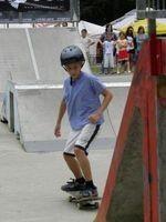 Jeden z dwójki najmłodszych uczestników zawodów, dziewięciolatek.