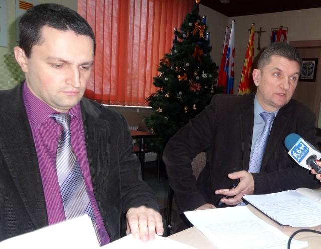 Na zdjęciu: Marek Mikrut (z lewej) oraz Jacek Drobot