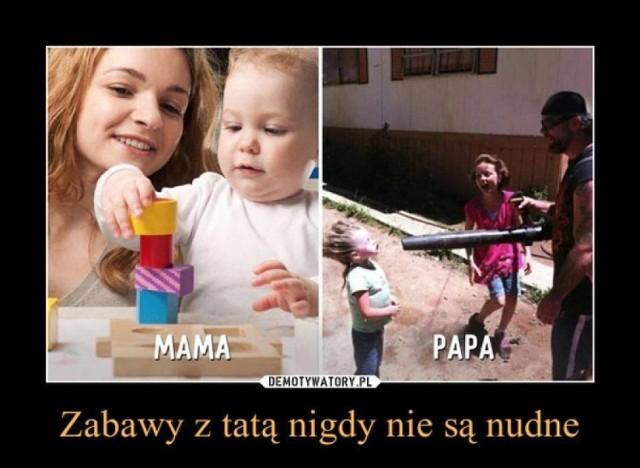 Dzień Ojca w Polsce jest obchodzony 23 czerwca, chociaż nie jest to święto tak popularne jak Dzień Matki. O tym, jak ważną osobą w naszym życiu jest tata i jak bardzo różni się od mamy, przekonują memy i demotywatory stworzone przez internautów. Zobacz w galerii najlepsze z nich ---->