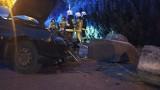 Kalisz: Kolizja na ulicy Grunwaldzkiej. Auto rozbite a sprawcy nie ma... ZDJĘCIA