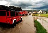 Watykan pod wodą! Wielka niedzielna ulewa w gminie Kamienica