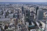 Varso Tower. Międzynarodowa kancelaria adwokacka zajmie trzy piętra 310 metrowej wieży. Taki widok z okien będą mieli pracownicy
