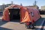 W Chojnicach jest już szpitalny namiot zastępczy na czarną godzinę